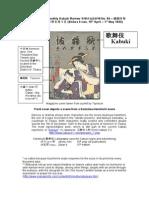 Tokyo Kabukiza Monthly Review April to May 1930