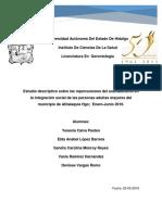 Estudio descriptivo sobre las repercusiones del analfabetismo en la integración social de las personas adultas mayores del municipio de Atitalaquia Hgo;  Enero-Junio 2016.