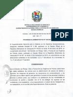 Providencia Administrativa 041-2016. [Leche Pasteurizada]