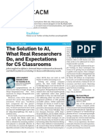 AI, Real research, and Computer science teaching