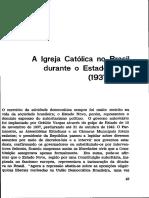 A igreja católica no Brasil durante o estado novo.PDF