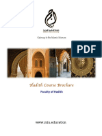 MIU Hadith Brochure .Compressed