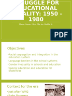 history of teaching struggle for educational equality