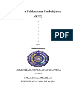 RPP Al-Quran Hadis Oleh Mahdan Sipahutar