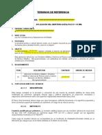 Términos de Referencia - Aplicacion de Mortero Asfaltico - 15 Mm. Por m2