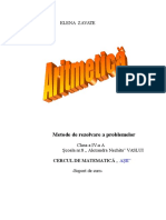 Aritmetica-Metode de Rezolvare a Problemelor-clasa IV