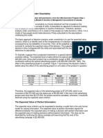 Decision Analysis under Uncertainty Solution