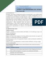 Teorías Contemporáneas Del Estado - LOro 2016