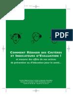 Comment Rediger Des Criteres d Evaluation