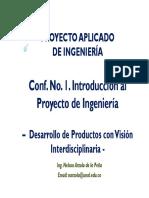 Proyecto aplicado de Ingenieria Conf No1 Introducción Al Curso