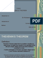 THEVENIN'S THEOREM