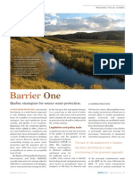 Barrier One - Quebec strategizes for source water protection - Water Canada Magazine May/June 2010