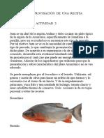 Actividad 2 Gastronomia Colombiana Iris
