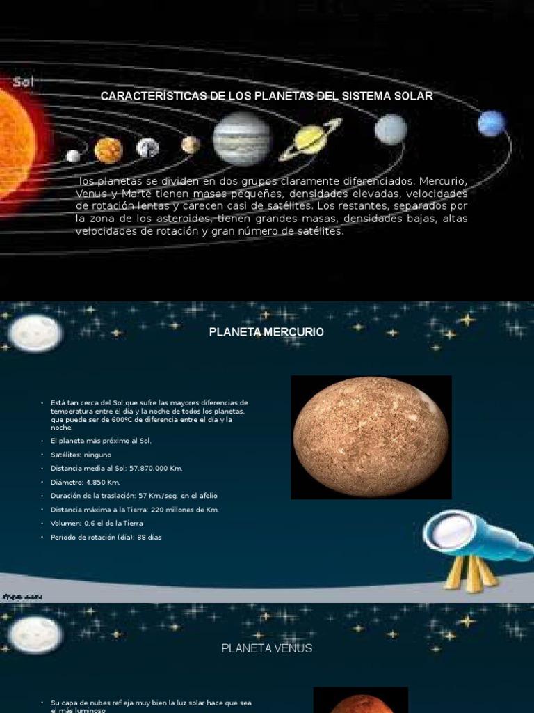 Características De Los Planetas Del Sistema Solar Pptx Júpiter Saturno