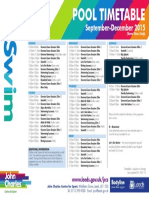 John Charles Sept-Dec Swim Timetable