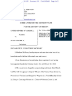 05-24-2016 ECF 605 USA v SEAN ANDERSON - Declaration Supporting Anderson Motion to Continue Trial