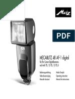 Flash Mecablitz 48 AF-1 Digital Canon