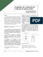 Metodo para aditivos baterias plomo acido