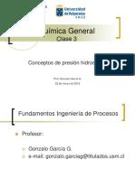 QUIMICA GENERAL Clase 3 Conceptos Hidrostaticos