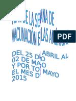 Plan Campaña de Vacunación Sva 2014