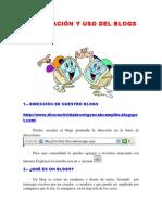 INFORMACIÓN Y USO DEL BLOGS