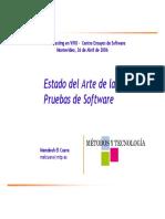 Estado Del Arte de Las Pruebas de Software