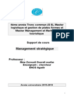 Cours Management Strategique