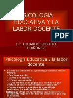 Psicología Educativa y La Labor Docente Cunsuroc.