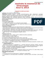 Subiecte  Examenul Ginecologie