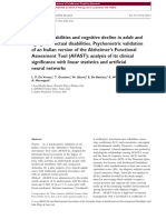 Functional Abilities and Cognitive Decline in Adult And