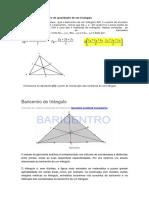Baricentro(Ou Centro de Gravidade) de Um Triângulo