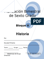 6to Grado - Bloque 5 - Historia.doc