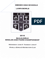 CHS Singles & Pairs Program