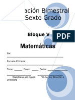 6to Grado - Bloque 5 - Matemáticas.doc