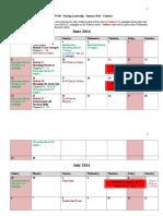 SBSN 430 Calendar Summer 2014