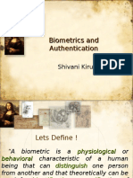 Interesting types of Biometrics