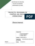 Proyecto Contorl Riesgo Operacional