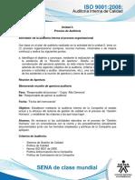 Actividad de Aprendizaje Unidad 3- De La Auditoria Interna Al Proceso Organizacional