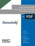 Dunwoody Parks & Rec Master Planning Survey Results_FINAL REPORT-5!25!16