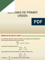 Respuesta y parametros de Sistemas de 1° y 2° orden