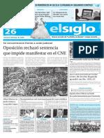 Edición Impresa El Siglo 26-05-2016