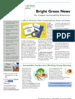 Bright Green Newsletter, September 2009 ~ UC Berkeley Office of Sustainability