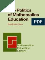 Mellin - the Politics of Mathematics Education