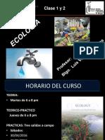 Clases 1 y 2 Ecología 2016
