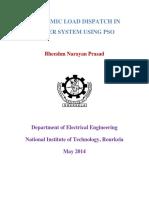 Economic Load Dispatch in Power System Using Pso Bheeshm