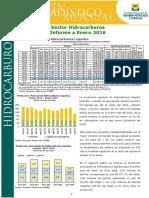 Boletin Estadistico Mensual Hidrocarburos Febrero 2016