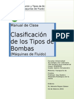 Manual de Clase Tipos de Bombas