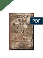 Jean Meslier - Critica de La Religion y Del Estado
