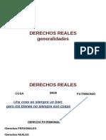 Teórica DERECHOS REALES Generalidades Mapa Conceptual