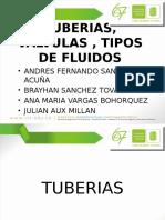 Tuberias, Valvulas y Clasificacion de Fluidos